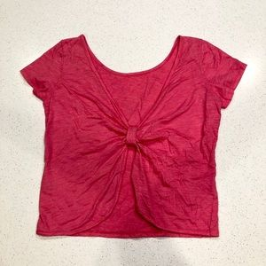Delia's Bow-Back Crop Top